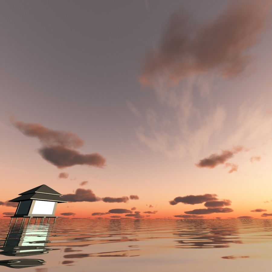 Sky 3D Sunset 042 royalty-free 3d model - Preview no. 4