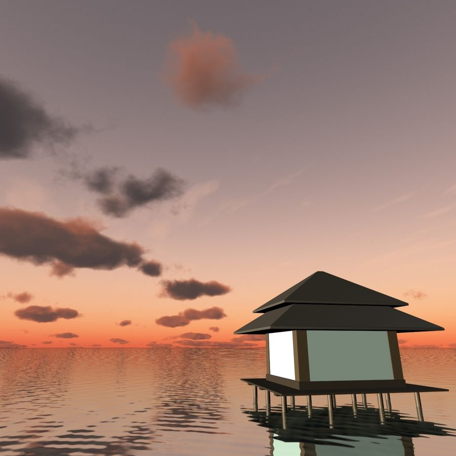Sky 3D Sunset 042 royalty-free 3d model - Preview no. 6