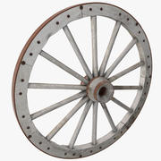 Vieille roue de wagon 3d model