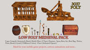Lowpoly Medieval Pack Game Ready Collection 3d model