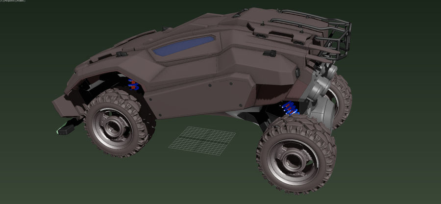 veículo militar royalty-free 3d model - Preview no. 2