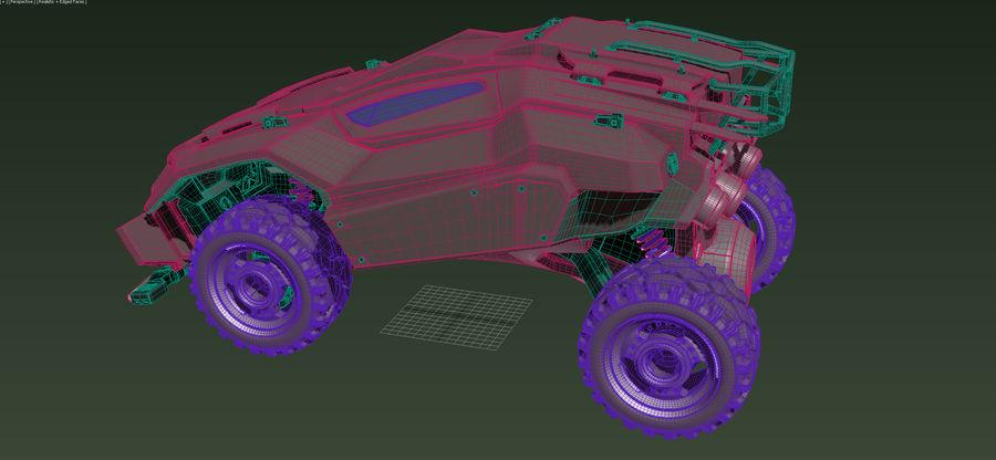 военный автомобиль royalty-free 3d model - Preview no. 4
