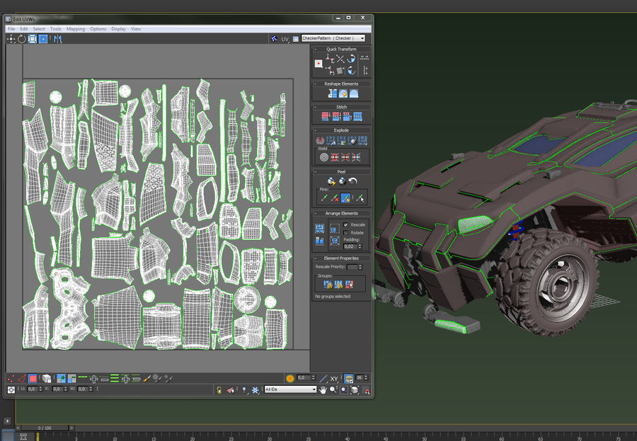 veículo militar royalty-free 3d model - Preview no. 5