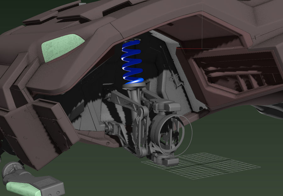 военный автомобиль royalty-free 3d model - Preview no. 3