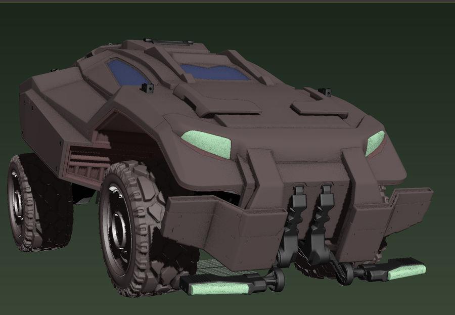 военный автомобиль royalty-free 3d model - Preview no. 1