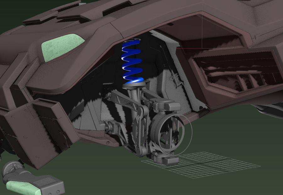 veículo militar royalty-free 3d model - Preview no. 3