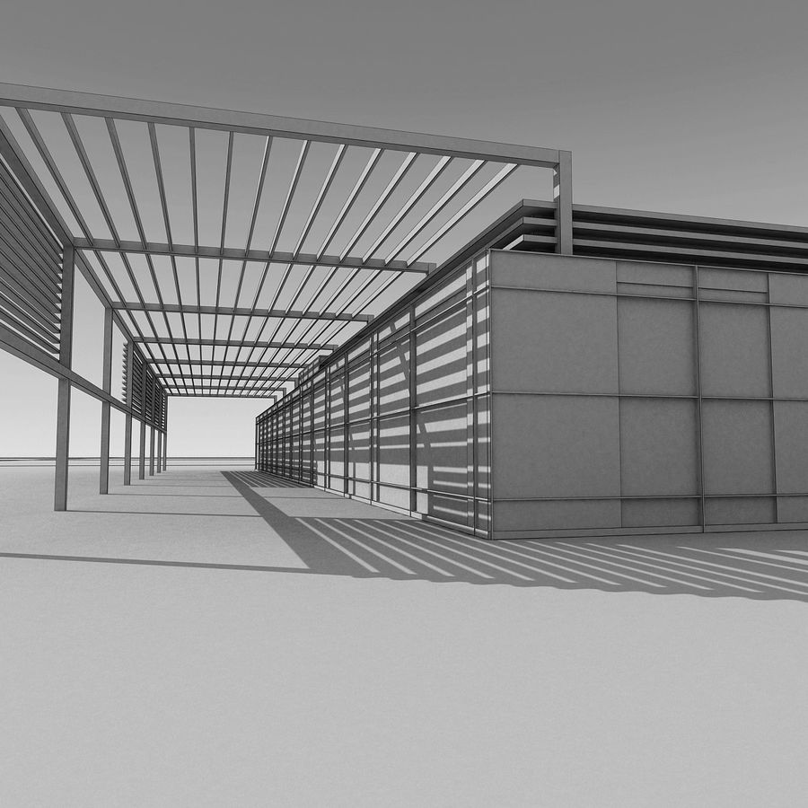 Modern Building 039 royalty-free 3d model - Preview no. 15