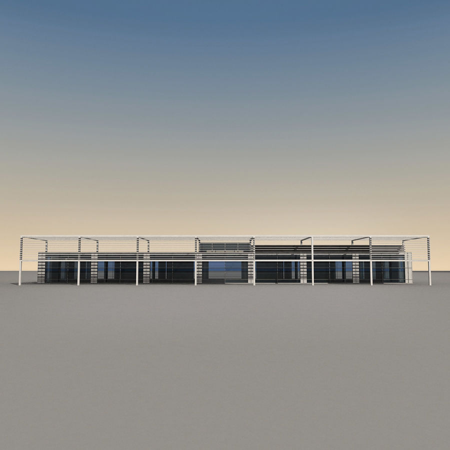 Modern Building 039 royalty-free 3d model - Preview no. 7