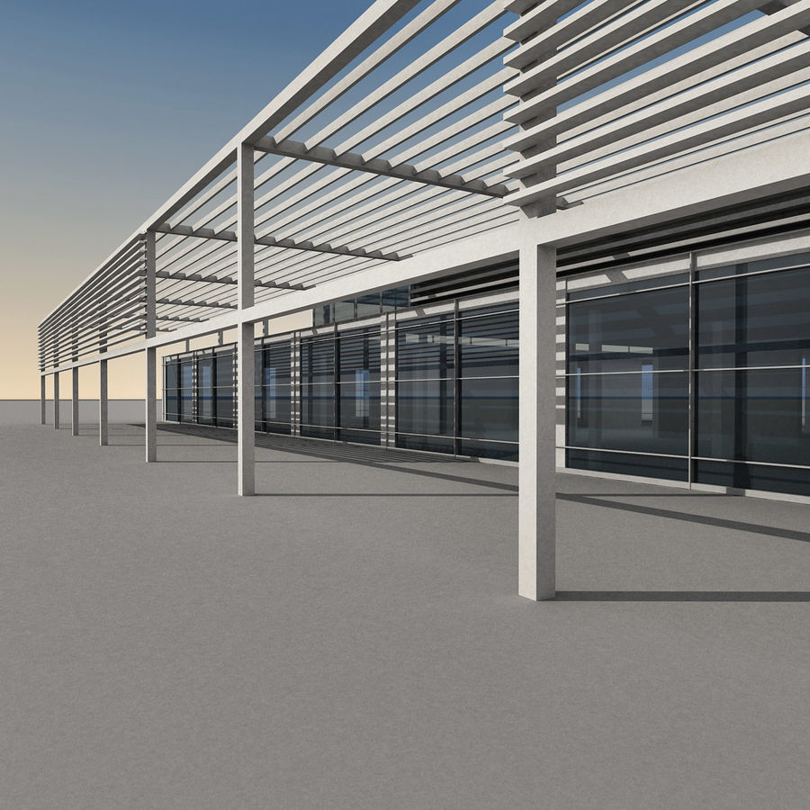 Modern Building 039 royalty-free 3d model - Preview no. 1