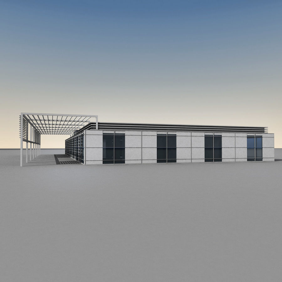 Modern Building 039 royalty-free 3d model - Preview no. 9