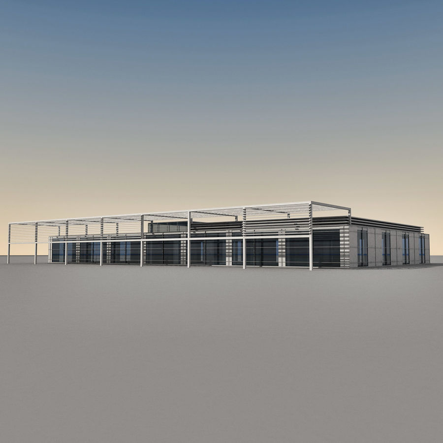 Modern Building 039 royalty-free 3d model - Preview no. 2