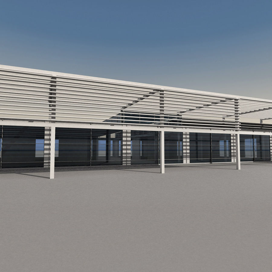 Modern Building 039 royalty-free 3d model - Preview no. 10