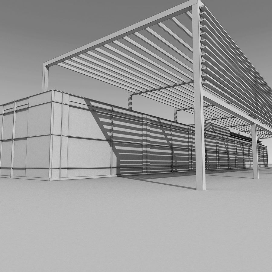 Modern Building 039 royalty-free 3d model - Preview no. 12