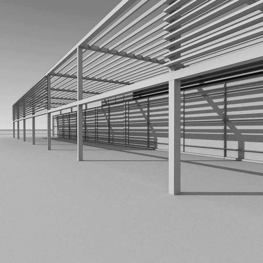Modern Building 039 royalty-free 3d model - Preview no. 14