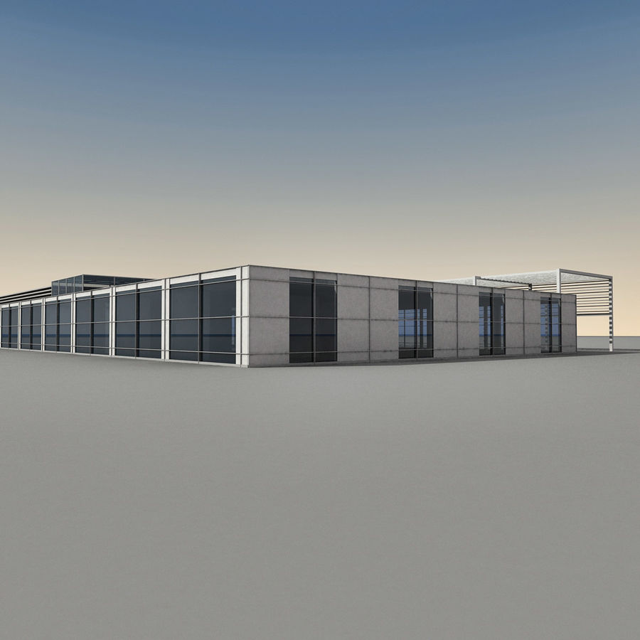 Modern Building 039 royalty-free 3d model - Preview no. 11
