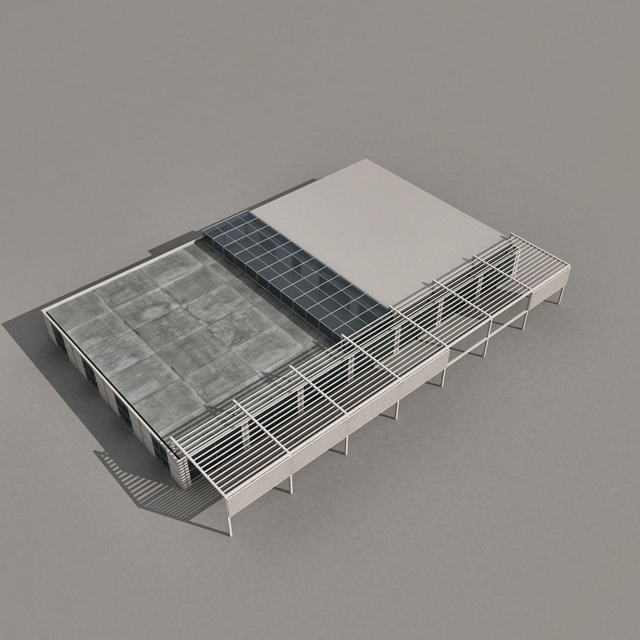 Modern Building 039 royalty-free 3d model - Preview no. 6