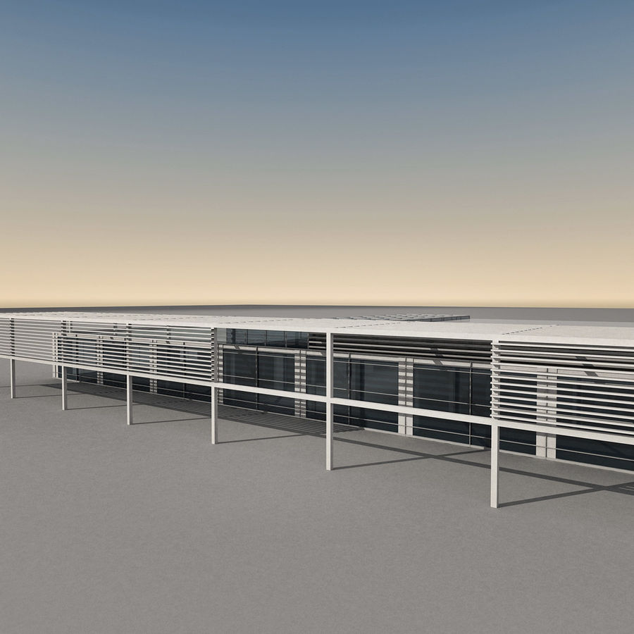 Modern Building 039 royalty-free 3d model - Preview no. 5