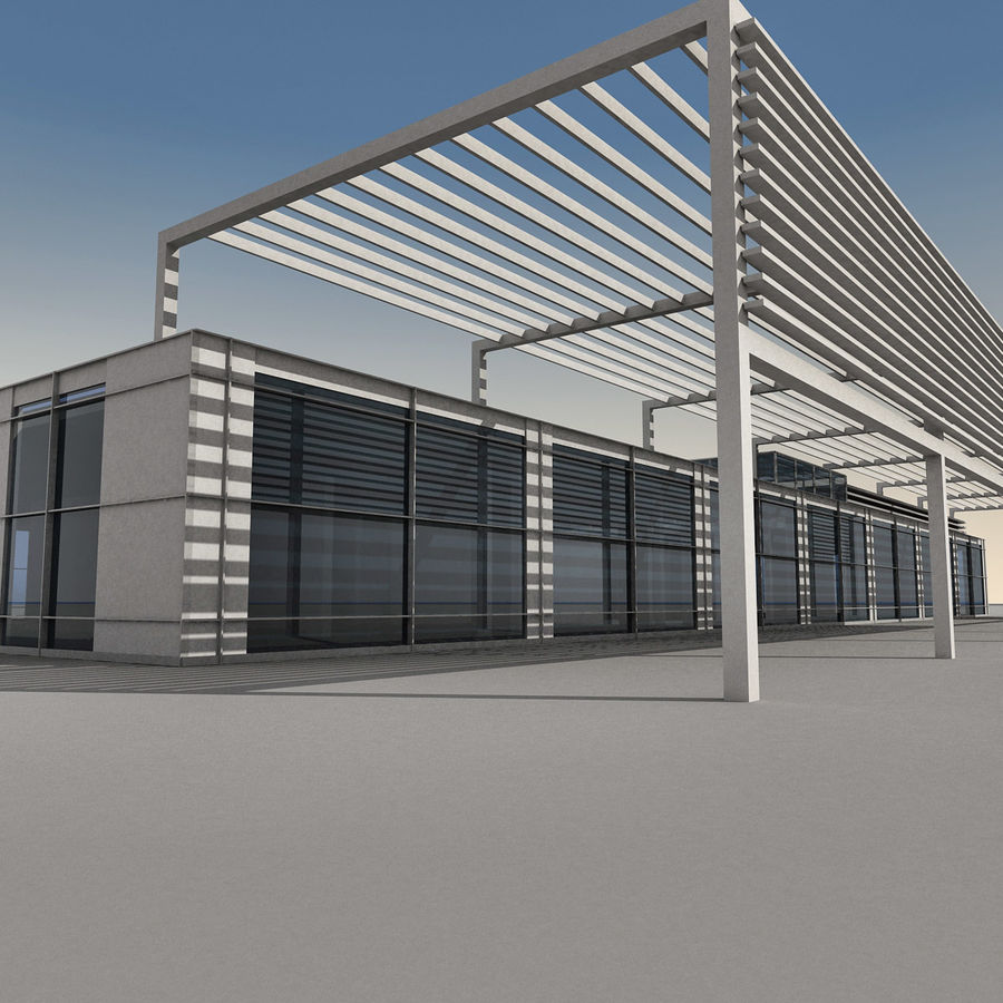 Modern Building 039 royalty-free 3d model - Preview no. 4