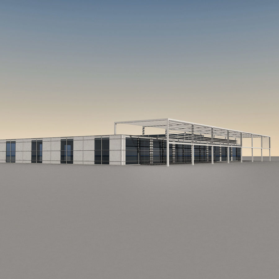 Modern Building 039 royalty-free 3d model - Preview no. 3