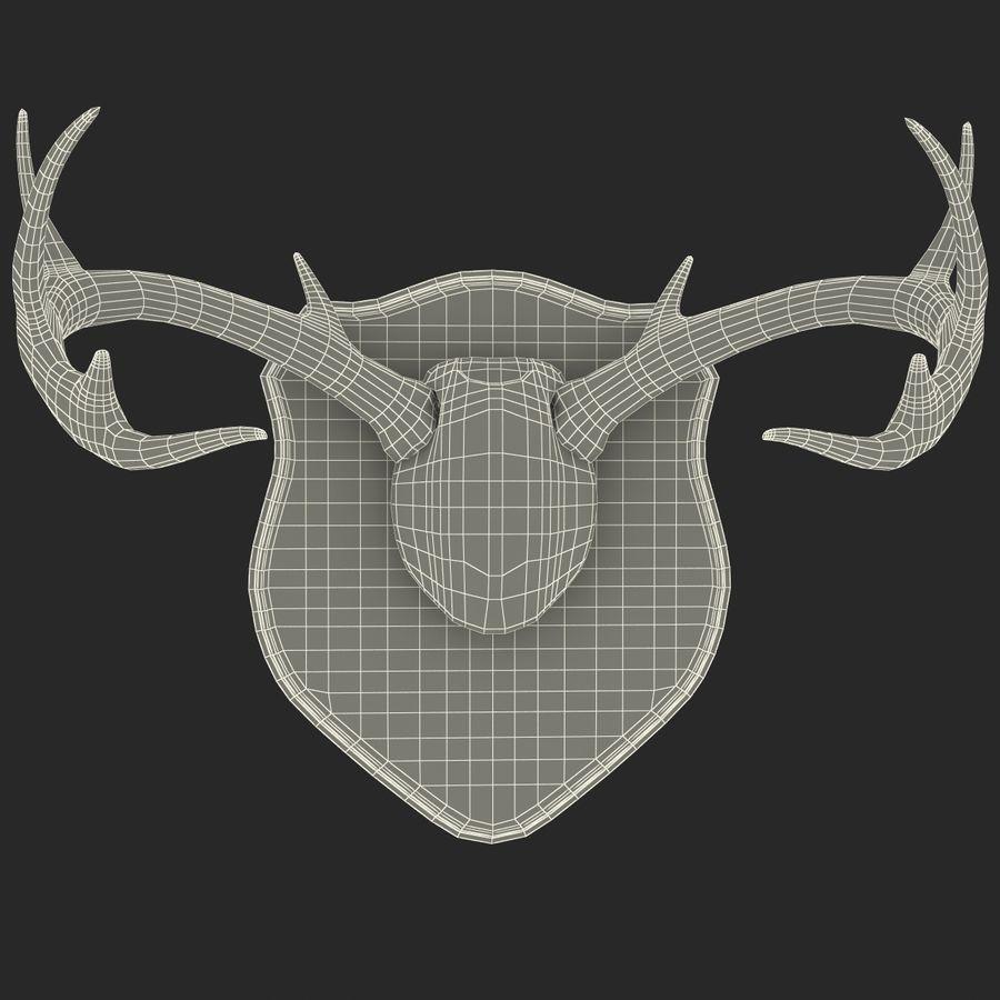Mounted Deer Antlers royalty-free 3d model - Preview no. 13