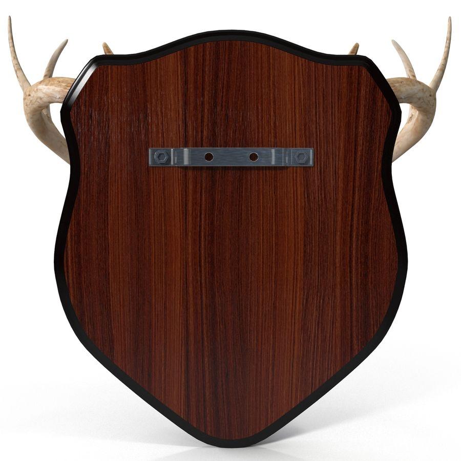 Mounted Deer Antlers royalty-free 3d model - Preview no. 8