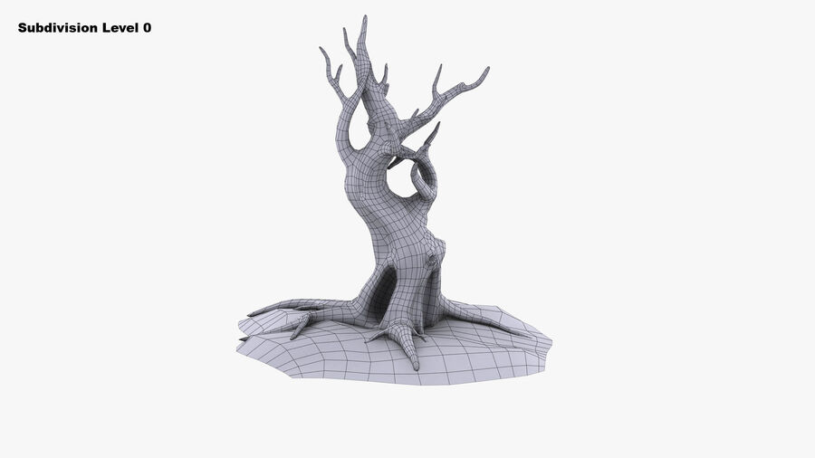 Tree Grass royalty-free 3d model - Preview no. 8