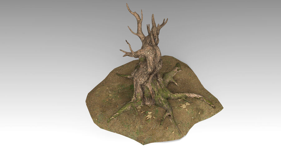 Tree Grass royalty-free 3d model - Preview no. 7
