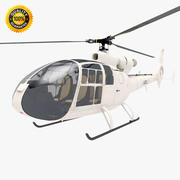 Aerospatiale SA Gazelle Helicopter 3d model
