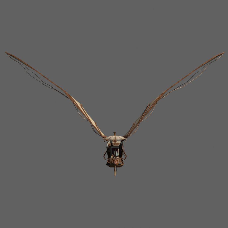Ornitóptero Steampunk royalty-free 3d model - Preview no. 2