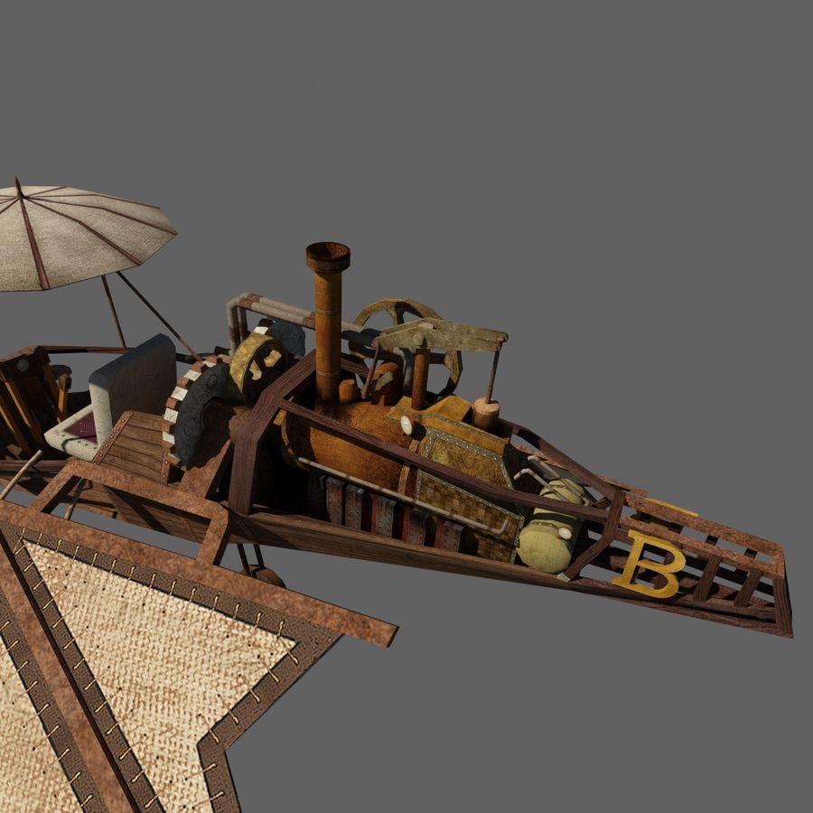 Ornitóptero Steampunk royalty-free 3d model - Preview no. 6