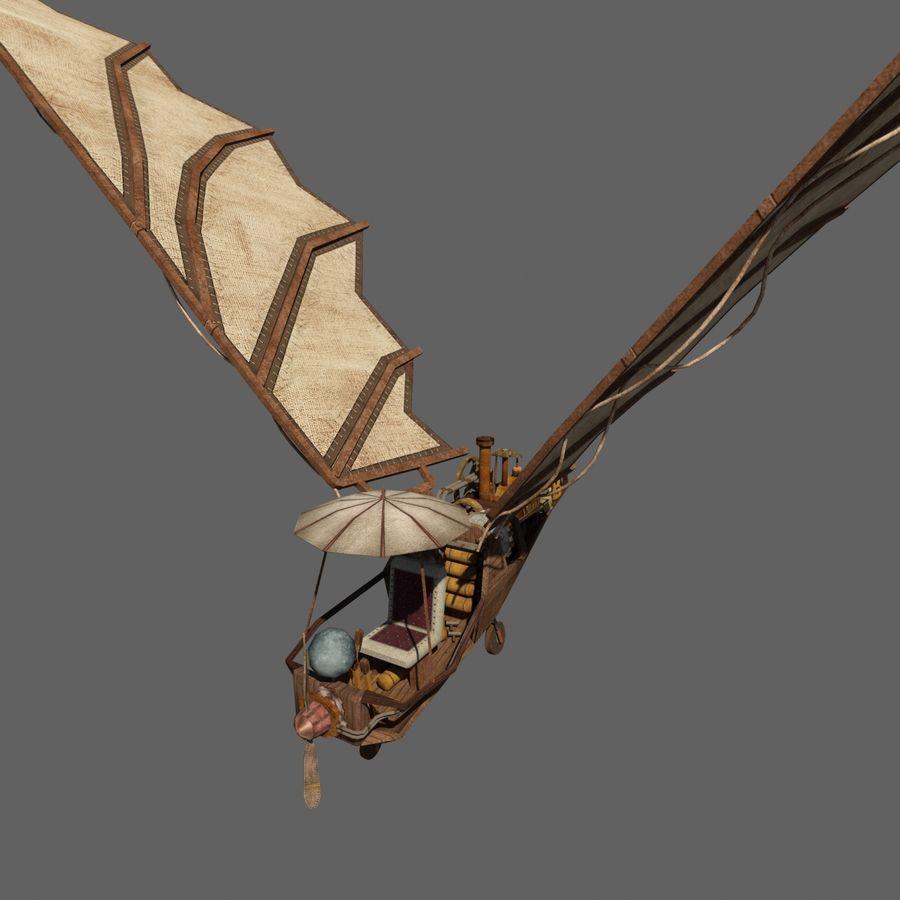 Ornitóptero Steampunk royalty-free 3d model - Preview no. 4