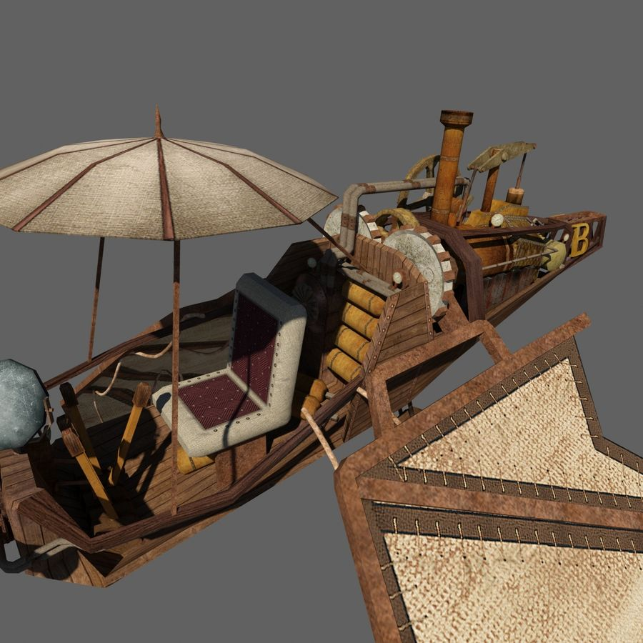 Ornitóptero Steampunk royalty-free 3d model - Preview no. 5
