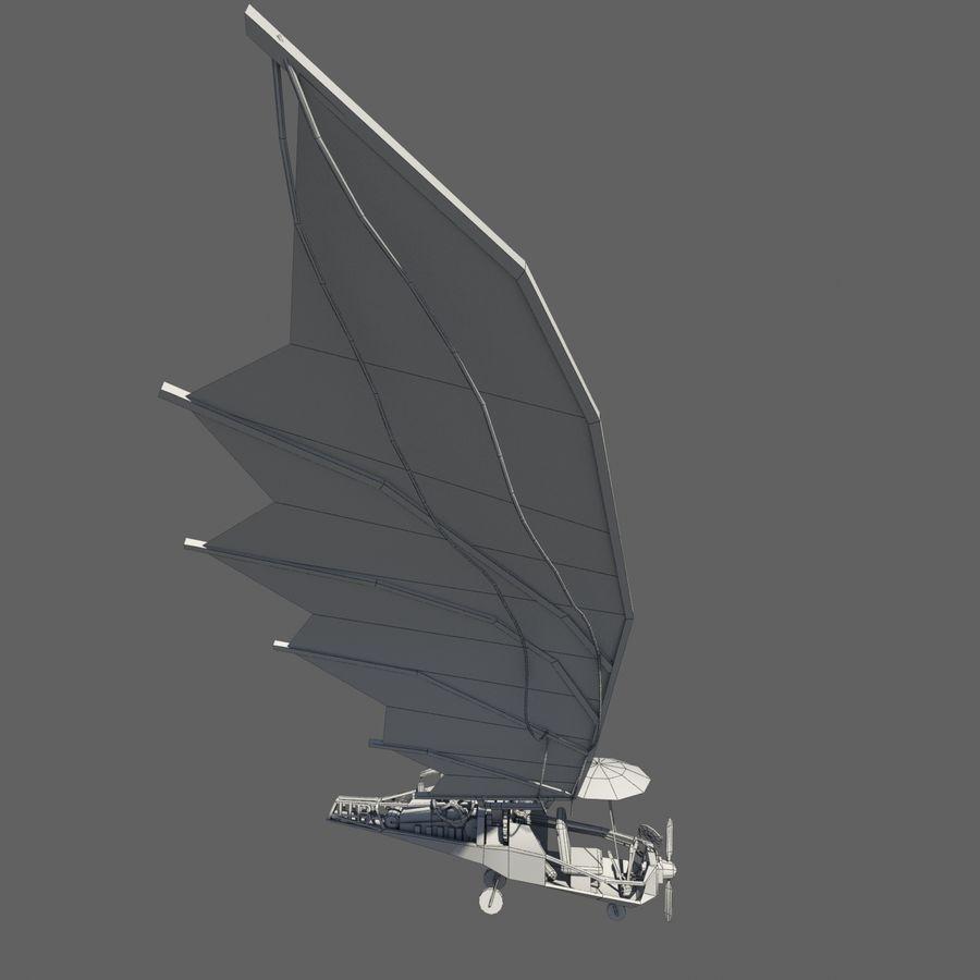 Ornitóptero Steampunk royalty-free 3d model - Preview no. 8