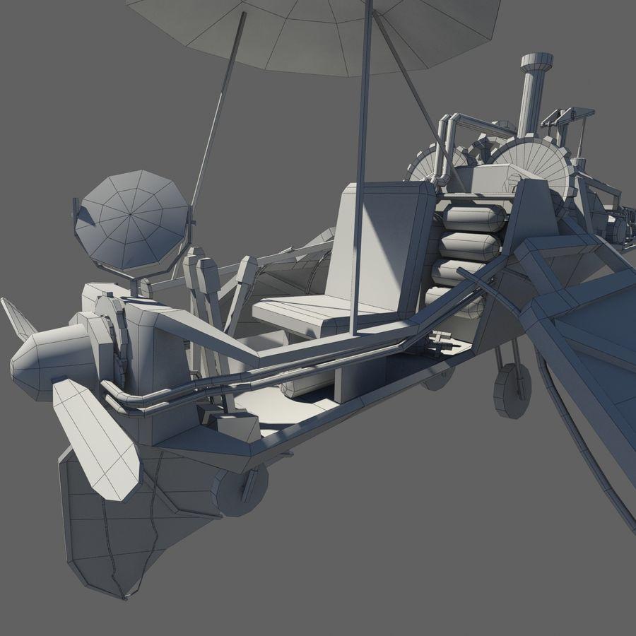 Ornitóptero Steampunk royalty-free 3d model - Preview no. 11