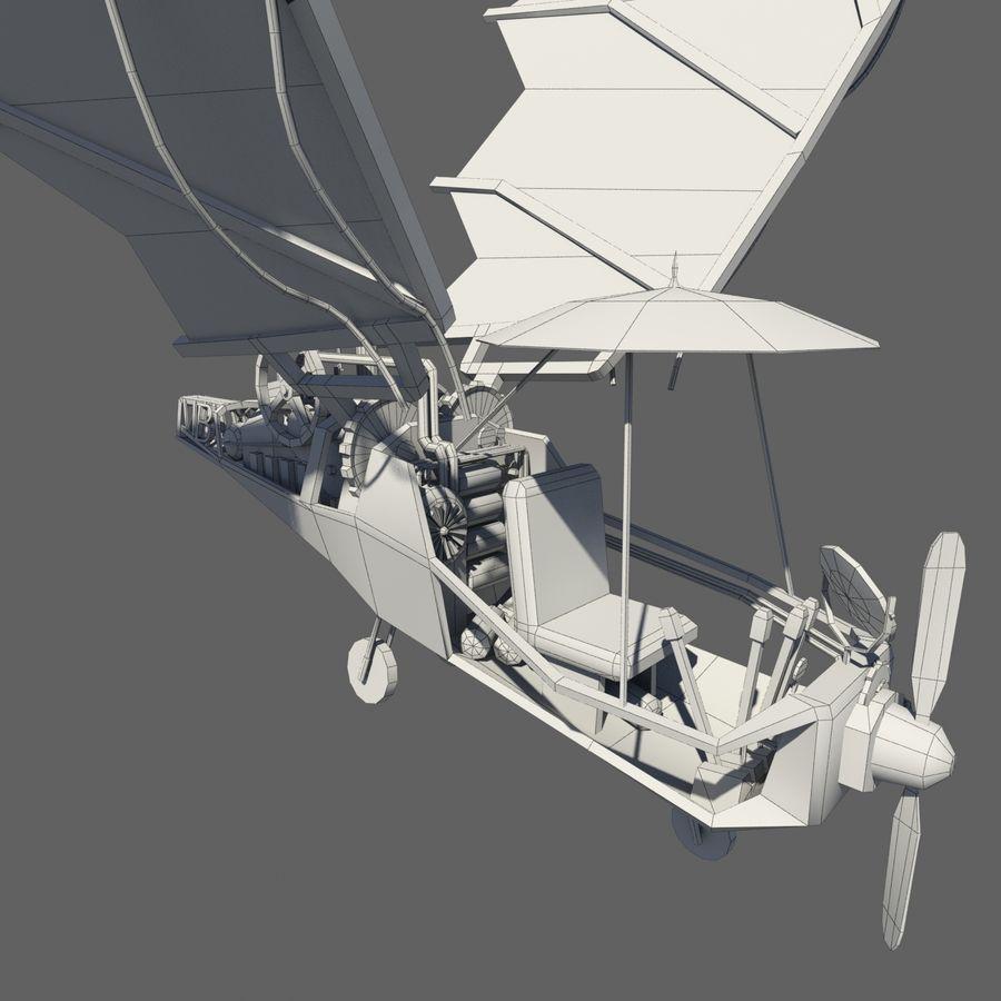 Ornitóptero Steampunk royalty-free 3d model - Preview no. 9