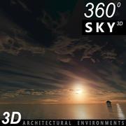 Sky 3D Sunset 004 3d model