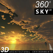 Sky 3D Sunset 007 3d model