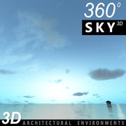 Sky 3D Sunset 057 3d model