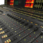 Audio Mixer Console 3d model