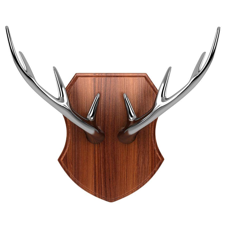 Deer Antlers royalty-free 3d model - Preview no. 4