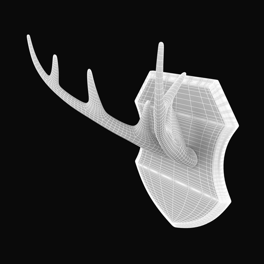 Deer Antlers royalty-free 3d model - Preview no. 7