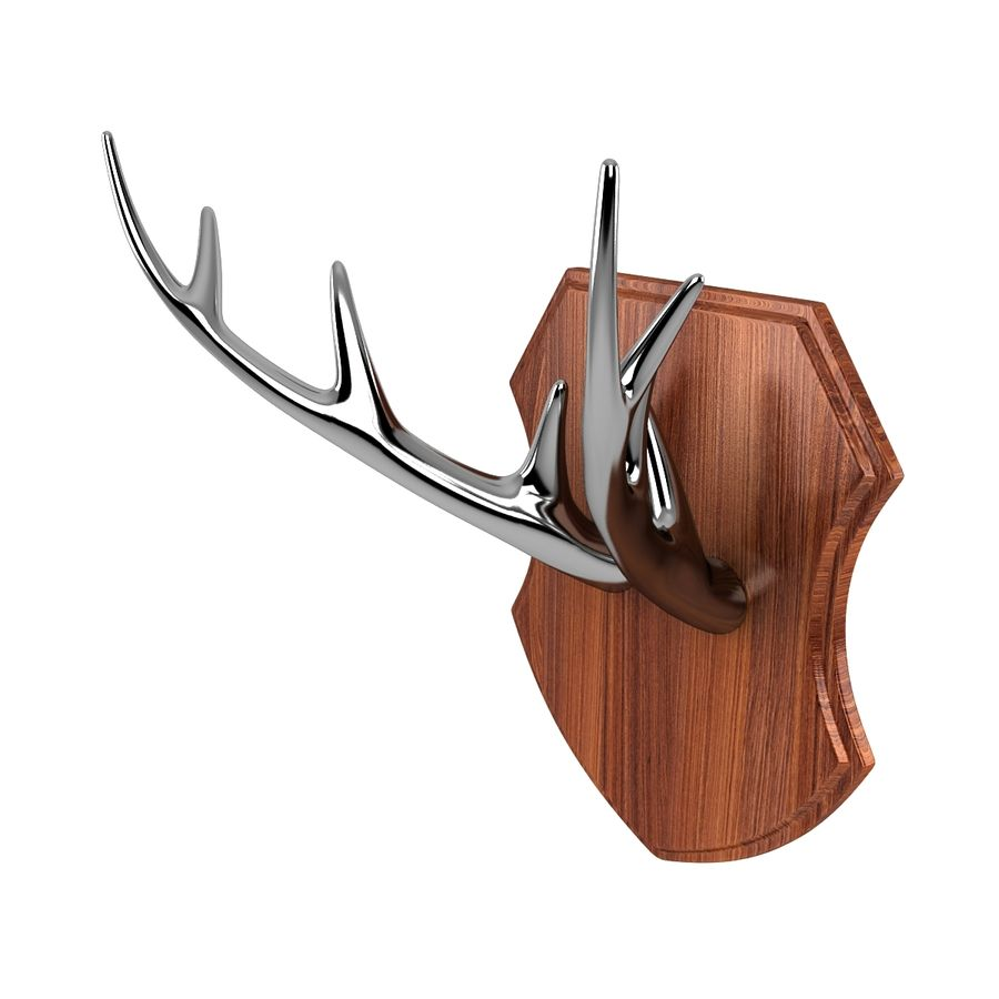 Deer Antlers royalty-free 3d model - Preview no. 5