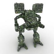Army Mech Warrior Robot V4 3d model