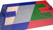 Boisko do koszykówki II 3d model