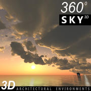Sky 3D Sunset 033 3d model