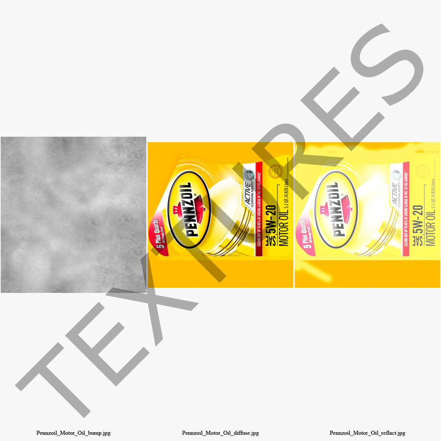 Pennzoil de óleo de motor de veículo royalty-free 3d model - Preview no. 36