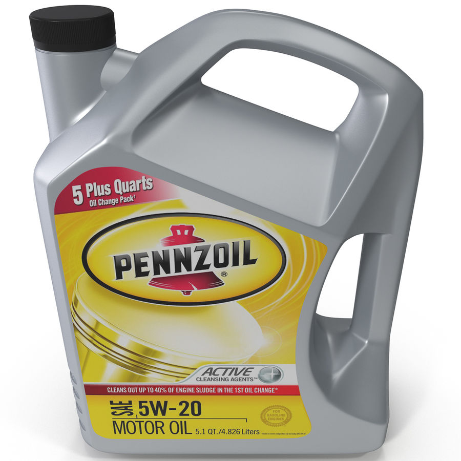 Pennzoil de óleo de motor de veículo royalty-free 3d model - Preview no. 2