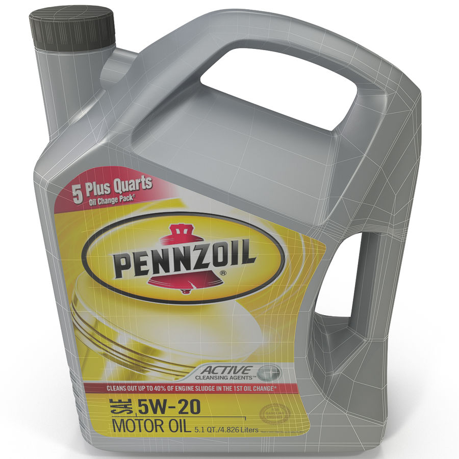 Pennzoil de óleo de motor de veículo royalty-free 3d model - Preview no. 17