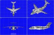 Embraer KC-90 수송 항공기 솔리드 어셈블리 모델 3d model