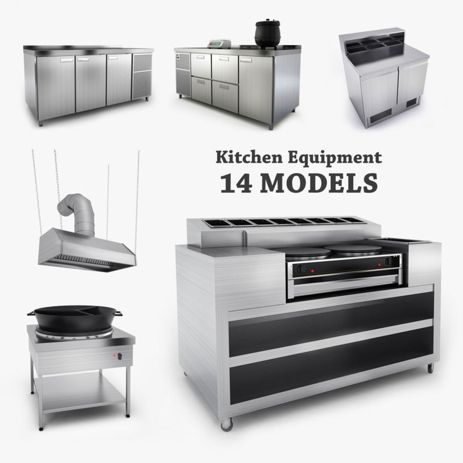 Kitchen Equipment royalty-free 3d model - Preview no. 2